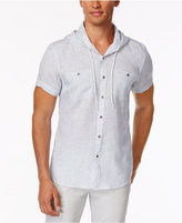 Kenneth Cole Reaction Men's Hooded Woven Shirt