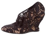 Alexander McQueen Floral Embroidered Wedges