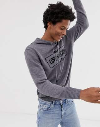 Love Moschino knitted hoodie-Grey