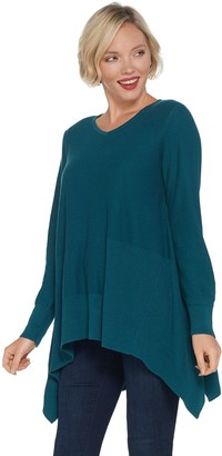 Joan Rivers Classics Collection Joan Rivers Swing Style Sweater with Rib Detail