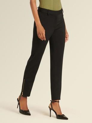 DKNY Donna Karan Women's Zipper Slit Pant - Black - Size 16