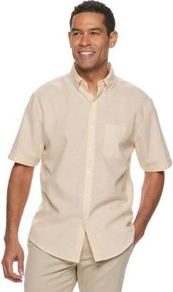 Croft & Barrow Men's Classic-Fit Easy-Care Linen-Blend Button-Down Shirt