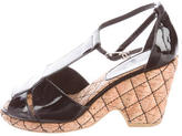 Chanel Quilted T-Strap Sandals
