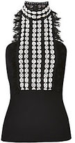 Yigal Azrouel Jabot Lace Top