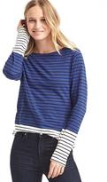 Stripe colorblock long sleeve tee