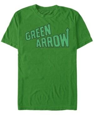 Fifth Sun Dc Men's Green Arrow Classic Text Logo Short Sleeve T-Shirt