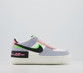 Nike Force 1 Shadow Trainers Sail Black Sunset Pulse Lt Armory Blue