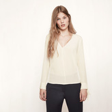 Maje Silk blouse with tie detailing