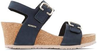Mephisto Lissandra Nubuck Wedge Sandals
