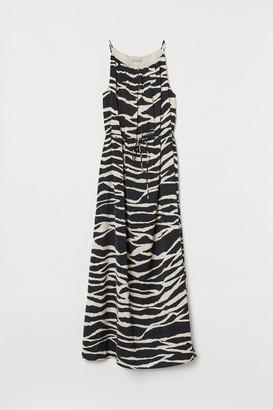 H&M Long Satin Dress - Black