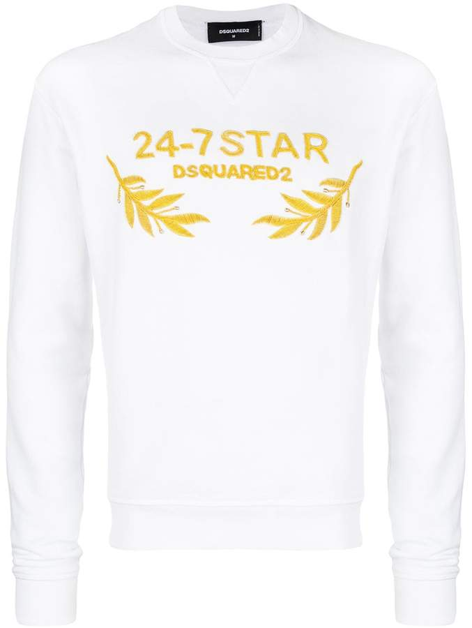 DSQUARED2 24-7 Star embroidered sweatshirt