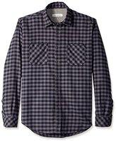 James Campbell Men's Paradigm Check Flannel Long Sleeve Shirt