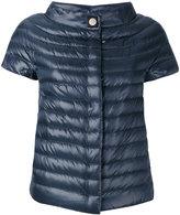 Herno short-sleeved puffer jacket