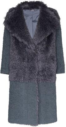 Vika Gazinskaya Faux Fur Textured Coat