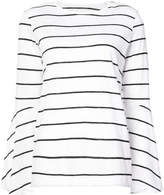 Lareida striped flute sleeve top