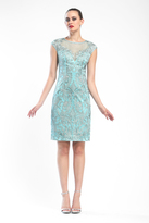 Sue Wong N16160 In Turquoise Dress