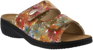 Spring Step Flexus by Leather Slide Sandals - Bellasa
