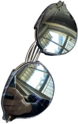 Christian Dior Abstract Silver Metal Sunglasses