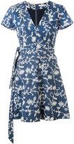 Alice + Olivia Alice+Olivia - Mary Jo wrap dress - women - Cotton/Polyester/Spandex/Elastane - 2
