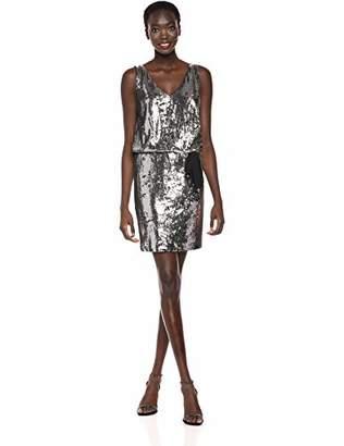 Nicole Miller Women's Mermaid Sequin v-Neck Dress