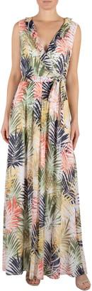 Donna Ricco Sleeveless Tie Waist Maxi Dress