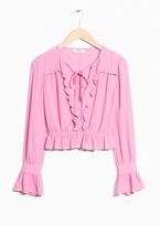 Other Stories Ruffled Blouse