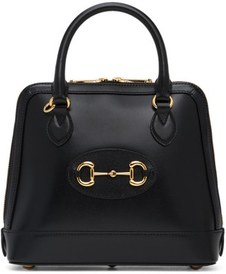 Gucci Black 1955 Horsebit Top Handle Bag