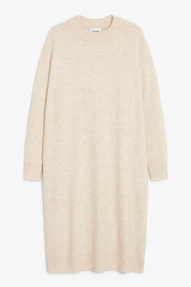 Monki Oversized midi knit dress