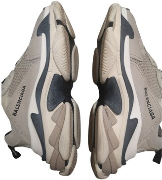 Balenciaga Triple S Beige Polyester Trainers