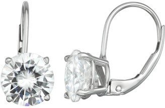 Charles & Colvard 14k Gold 3 Carat T.W. Lab-Created Moissanite Leverback Earrings