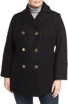 MICHAEL Michael Kors Double-Breasted Wool-Blend Coat, Plus Size