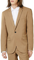Topman Camel Skinny Fit Suit Jacket
