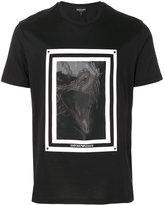 Emporio Armani organza panel T-shirt
