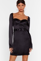 Nasty Gal Womens Holdin' onto Hope Satin Mini Dress - black - 4