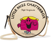 Olympia Le-Tan Little Miss Chatterbox Appliquéd Cotton-faille Shoulder Bag - Cream