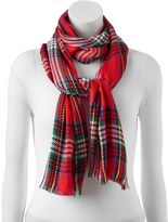 Apt. 9 Plaid Pashmina Oblong Scarf