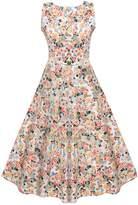 ACEVOG Women's Retro V-Neck 1950'S Vintage Bridesmaid Party Dress