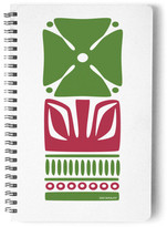 Minted Nordic Green Flower Notebook Self-Launch Notebook