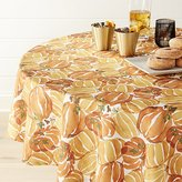 "Crate & Barrel Fall Pumpkin 54"" Round Tablecloth"