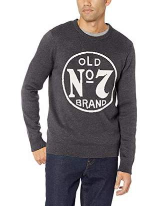 Lucky Brand Men's Long Sleeve Crew Neck Old No 7 Sweater