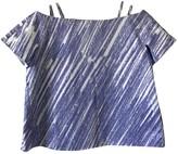 Vika Gazinskaya Blue Cotton Top for Women
