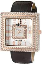 Adee Kaye Women's AK25-LRG Analog Display Japanese Quartz Champagne Watch