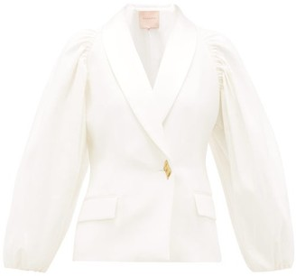 Roksanda Isobel Tailored Crepe Jacket - Womens - Ivory