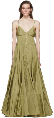 Jacquemus Green La Robe Manosque Dress