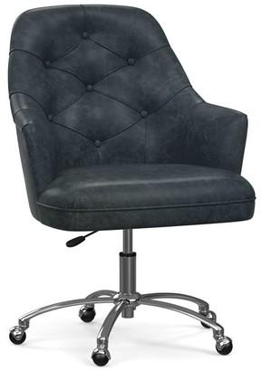 Pottery Barn Everett Leather Swivel Desk Chair