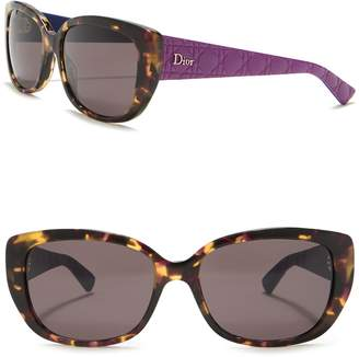 Christian Dior Lady 2 55mm Squared Cat Eye Sunglasses