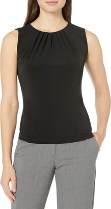 Calvin Klein Women's Pleat Neck Sleeveless Cami