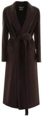 Bottega Veneta wool trench coat chocolate brown