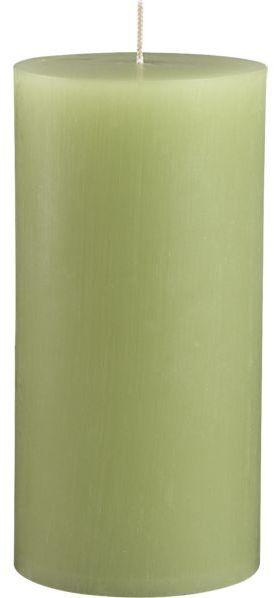 "Crate & Barrel Tupelo Green 3""x6"" Pillar Candle"