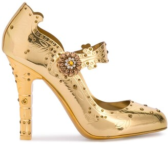 Dolce & Gabbana Embellished Mary Jane Pumps